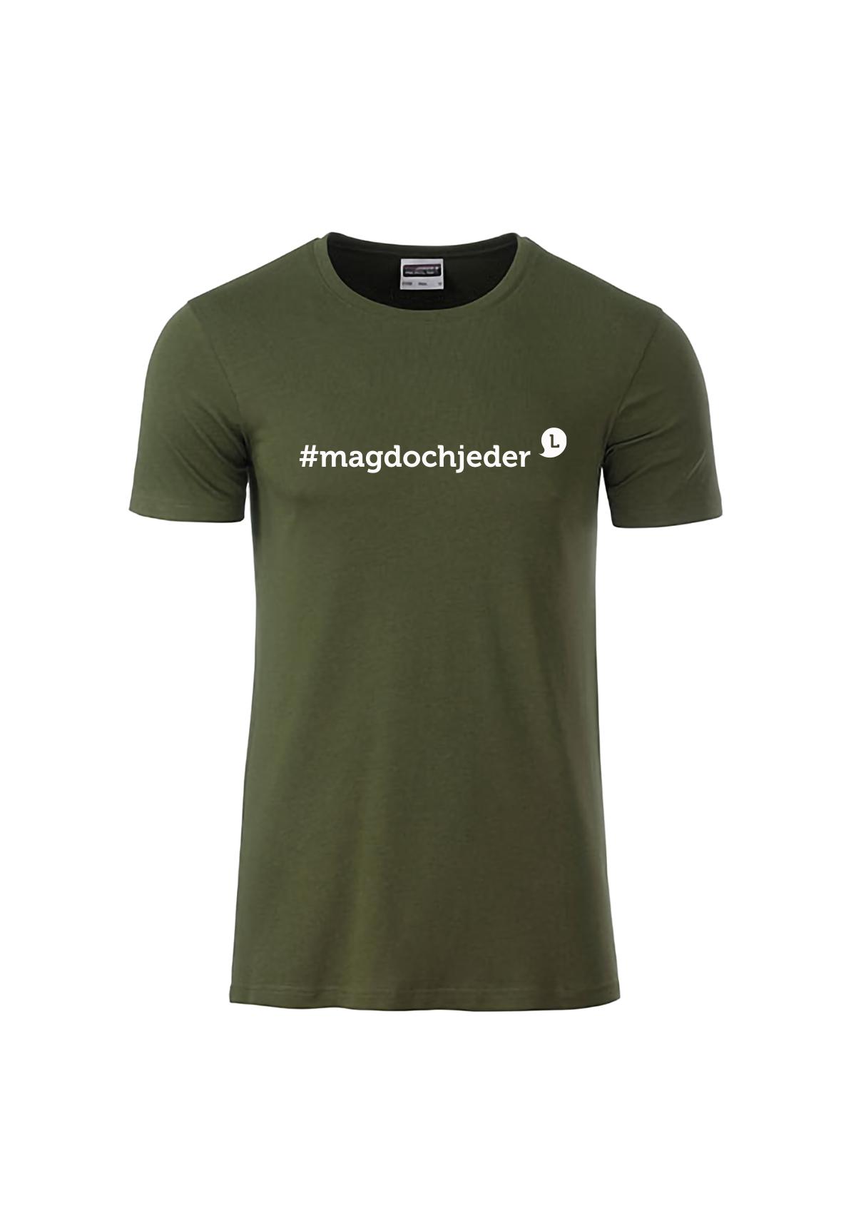 "Herren T-Shirt ""#magdochjeder"""