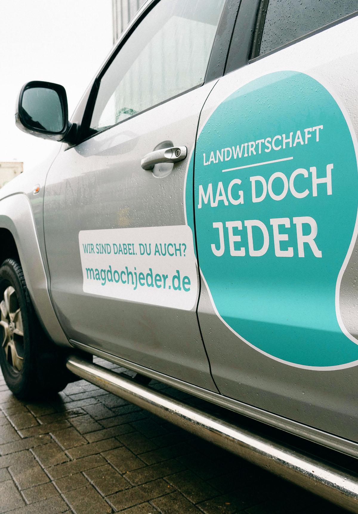 """Fahrzeug-Sticker """"Ich bin dabei"""""""