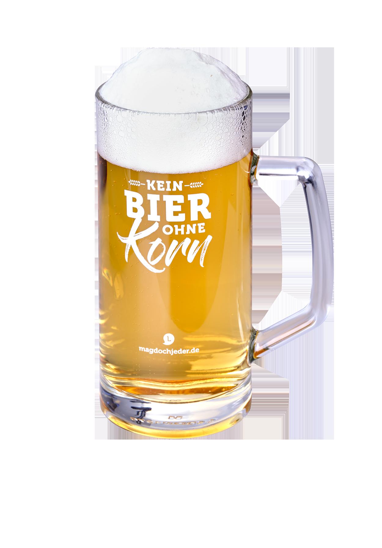 """Bierglas """"Kein Bier ohne Korn"""""""